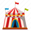 activity, cartoon, leisure, logo, outdoor, shapito circus, tent icon