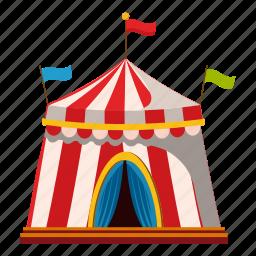 activity, cartoon, leisure, logo, outdoor, shapito circus, tent icon