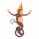 animal, cartoon, circus, circus monkey, dance, logo, monkey icon