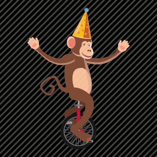 animal, cartoon, circus, circus monkey, dance, logo, monkey icon