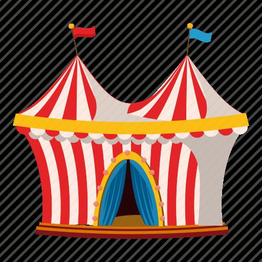 activity, cartoon, circus, leisure, logo, outdoor, tent icon