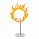 blaze, border, bright, burning, burning hoop, cartoon, logo icon