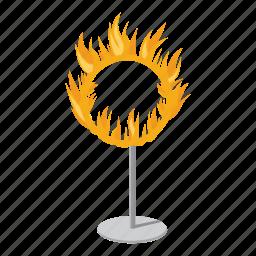 blaze, border, bright, burning, burning hoop, cartoon, logo icon