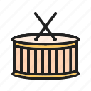art, circus, drum, instrument, music, play, toy icon