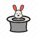 bunny, circus, hat, magic, rabbit, show, trick icon