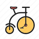 bicycle, bike, circus, face, fun, joker, wheel icon