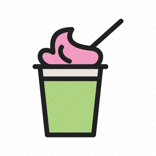 cream, cup, food, frozen, icecream, sweet, vanilla icon