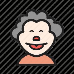 birthday, circus, clown, portrait, smile, studio icon