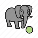 art, circus, elephant, painting, performance, show, tent icon