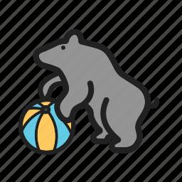animal, bear, circus, face, fun, show icon