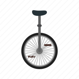 bicycle, bike, circus, face, fun, joker, wheel icon