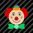 birthday, circus, clown, portrait, smile, studio