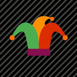 circus, clown, comedy, entertainment, happy, hat, theatre icon