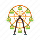 circle, circus, ferris, festival, fun, wheel icon