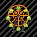circle, circus, ferris, festival, fun, wheel