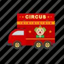 van, colorful, entertainment, joy, circus, street, fun
