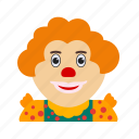 birthday, circus, clown, portrait, smile, studio icon