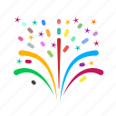 anniversary, celebration, circus, colorful, firework, fireworks, party icon