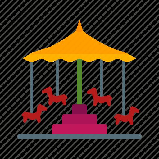 Circus, fun, horse, park, ride, round, trip icon - Download on Iconfinder