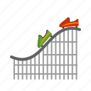 amusement, coaster, entertainment, fun, park, ride, roller icon