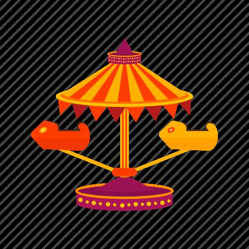 car, entertainment, fun, park, ride, swing, wheel icon