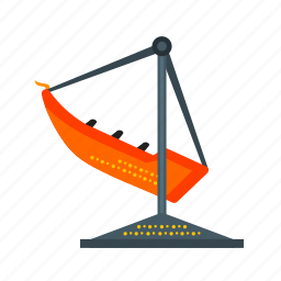 boat, entertainment, fun, park, ride, swing, wheel icon