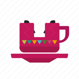cup, entertainment, fun, park, ride, swing, wheel icon