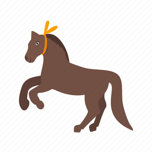 circus, horse, perform, performance, show, standing, trainer icon