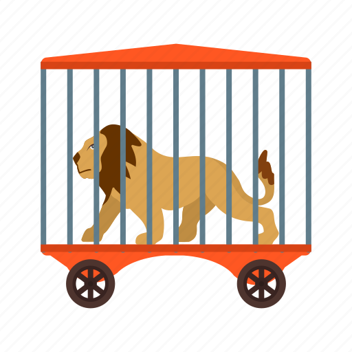 cage, cell, circus, lion, lions, trainer, zoo icon