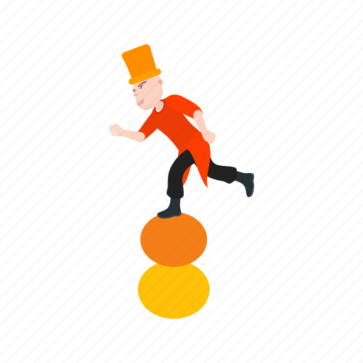 balls, clown, fun, juggle, juggling, person, stick icon