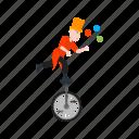 balls, clown, fun, juggle, juggling, person, stick