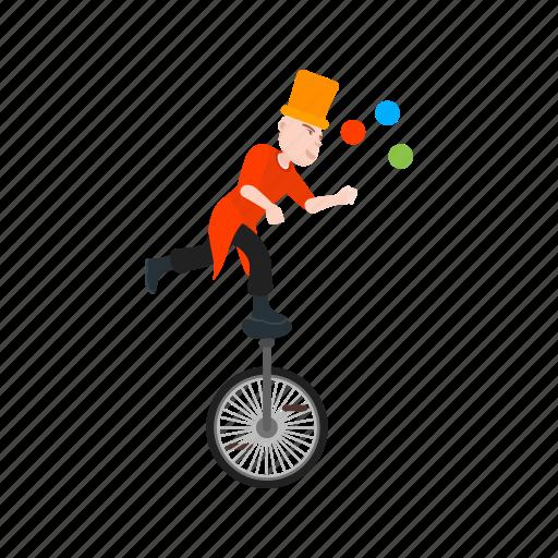 balls, clown, fun, juggle, juggling, person, stick icon