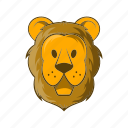 animal, cartoon, circus, lion, mammal, wildlife, zoo icon