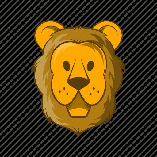 animal, cartoon, circus, lion, mammal, wildlife, zoo icon