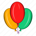 air, balloon, birthday, cartoon, decoration, greeting, holiday icon