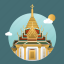 architecture, asia, bangkok, building, capital, city, landmark icon