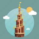 architecture, building, copenhagen, denmark, landmark, monument icon
