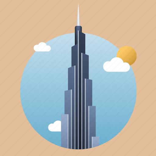 arab, architecture, building, burj khalifa, city, dubai, landmark, monument, skyscraper, uae icon