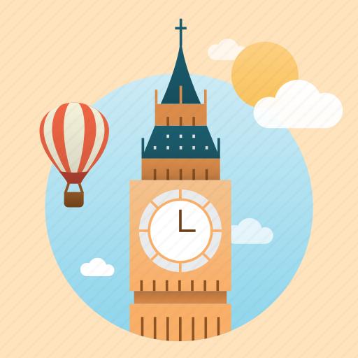 big ben, britain, building, city, england, europe, landmark, london, monument icon