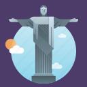 brazil, janeiro, jesus, landmark, monument, rio, rio de janeiro, statue icon
