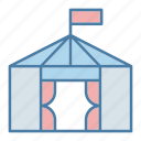 architecture and city, circus, leisure, tent, entertaining, entertainment icon