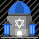 buildings, jewish, monuments, religion, synagogue icon