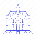 building, city, civic, council, guildhall, hall, major, municipal, public, services, town icon