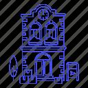 building, city, courier, letter, mail, mailbox, office, parcel, post, postal, public, services icon