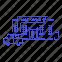 2, building, city, courier, letter, mail, mailbox, office, parcel, post, postal, public, services icon