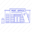 letter, mail, city, building, public, postal, parcel, mailbox, services, post, courier, office icon