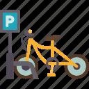 bicycle, parking, vehicle, street, transport