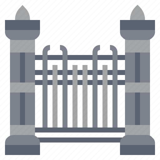 building, city, construction, fence, garden, limits, yard icon