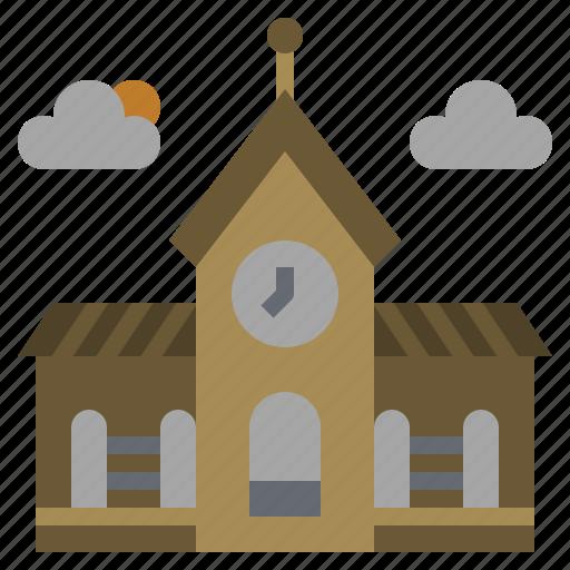 buildings, classroom, college, education, monuments, school, university icon