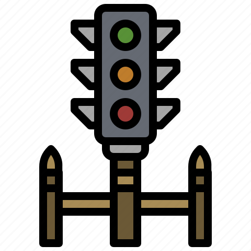 buildings, business, light, road, sign, stop, traffic icon
